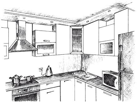 Рис.20. Кухня в стиле техно