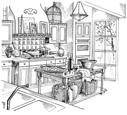Рис.21. Кухня во французском стиле