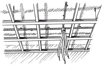Рис.47. Крепление металлической обрешетки к потолочной плите