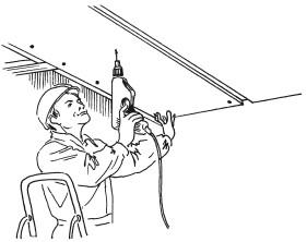Рис.48. Крепление гипсокартонных плит к обрешетке