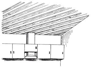 Рис.50. Пример устройства реечного потолка на кухне