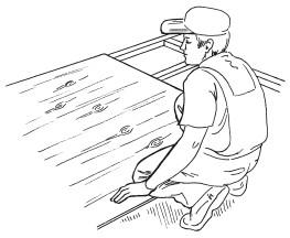 Рис.59. Крепление листов фанеры к обрешетке