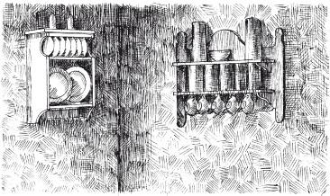 Рис.70. Художественная фактура из структурной штукатурки на кухне
