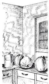 Рис.71. Художественная фактура из венецианской штукатурки на кухне