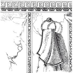 Рис.72. Художественная фактура из венецианской штукатурки в ванной