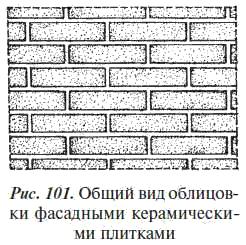 2.Облицовка наружных поверхностей дома фасадными керамическими плитками