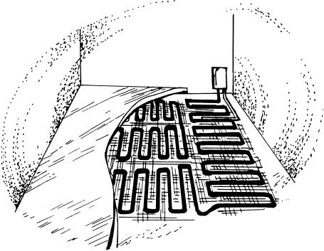 Теплые кабельные полы на сетке