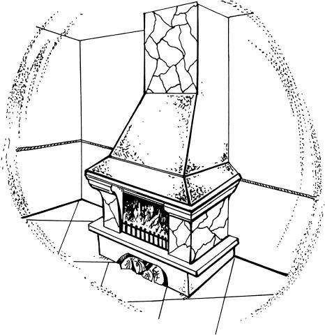 Облицовка камина