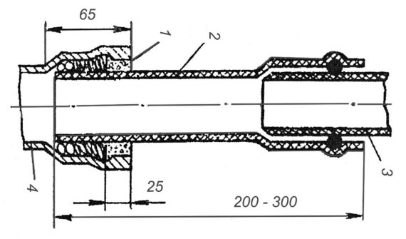 Соединение неметаллических труб