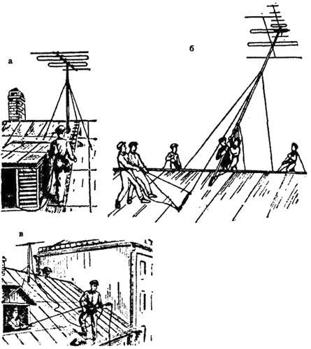 Рис.12. Приемы безопасной работы на крыше