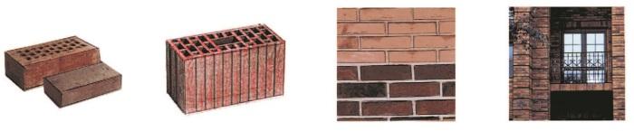 Рис. 10. Многощелевые керамические кирпичи и блоки