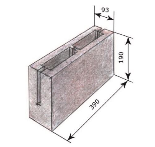 Рис. 12. Керамзитобетонный блок