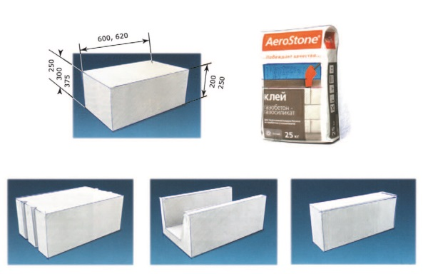 Рис. 13. Блоки AeroStone – стеновые блоки из ячеистого бетона