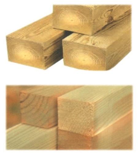 Рис. 17. Деревянный обрезной брус