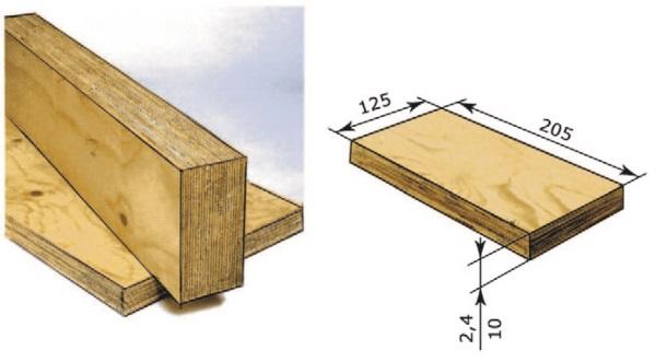 Рис. 19. Клееный брус из шпона Utralam (LVL-брус)