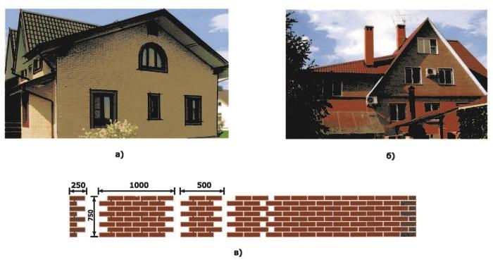 <emphasis>Рис. 27. а) Жилой дом из термопанелей «Европа»; б) коттедж из панелей «Европа»; в) термопанель «Европа»