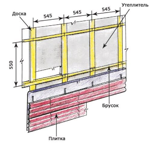 Рис. 34. Фасадная плитка с металлическим креплением