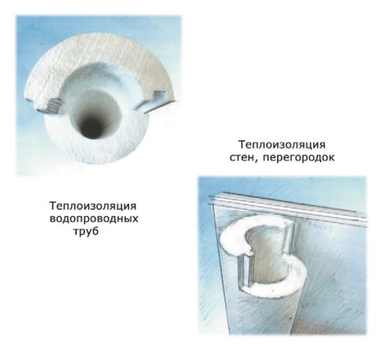 Рис. 40. Теплоизоляционная скорлупа из пенополистирола