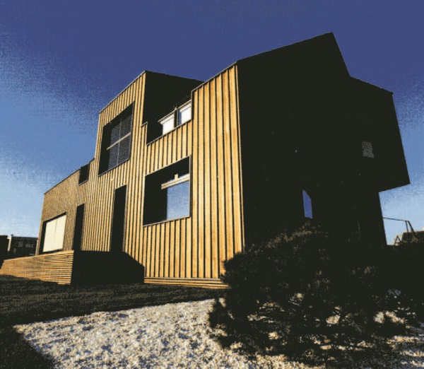 Рис. 60. Энергоэффективный дом. В отделке фасадов использовано термодерево