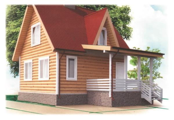 Рис. 63. Дом, отделанный блок-хаусом