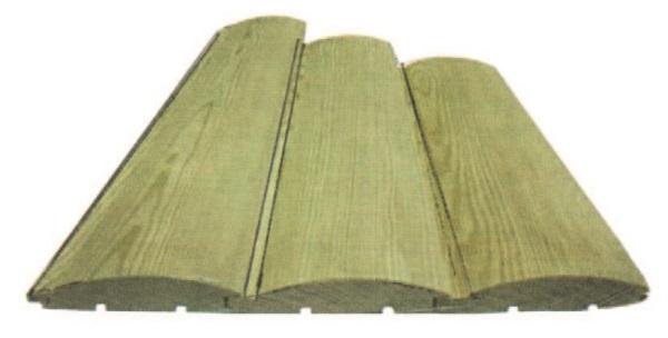 Рис. 64. Блок-хаус – отделочный материал из натуральной древесины.