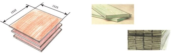Рис. 70. Фанера и доски (обрезные)