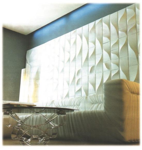 Рис. 73. Новый материал для отделки стен интерьера (3D)
