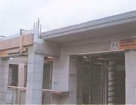 Галерея из монолитного бетона, из сборных блоков балкон