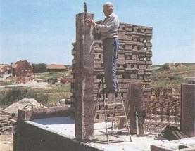 Для первого этажа берутся блоки с теплоизоляцией