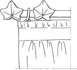 Рис. 8. Орнаментальные кольца на краях карниза