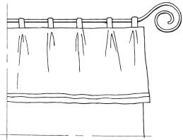 Рис. 9. Стержень с концом, завитым в изящную спираль