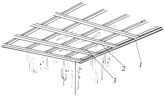 Монтаж металлического каркаса подшивного потолка