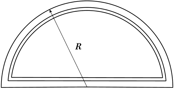 Рис.3. Полуциркульная арка