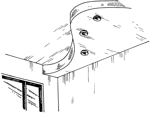 Рис.24. Фигурная диагональ как элемент декоративного потолка