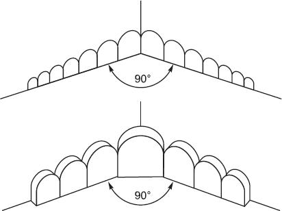 б)Отражающие фигуры для угла комнаты