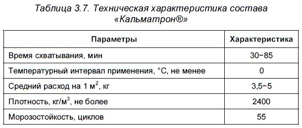 Гидроизоляционные составы проникающего действия «Кальматрон®»