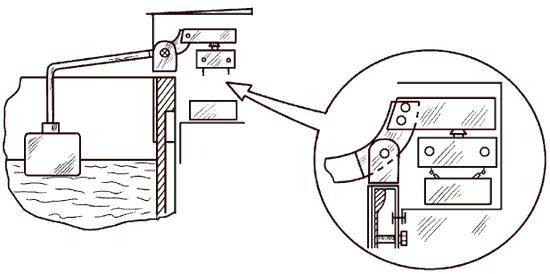Рис. 32. Поплавковый выключатель.