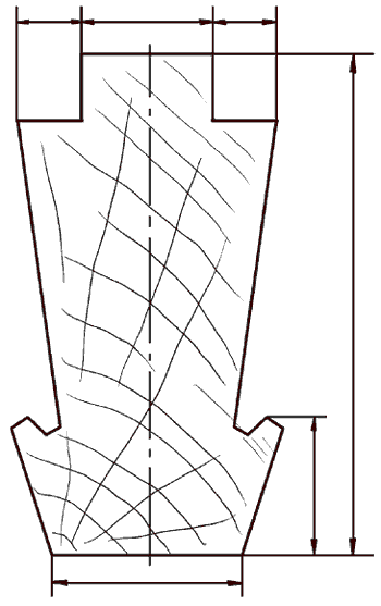 Рис. 61. Шпрос (в поперечном разрезе).