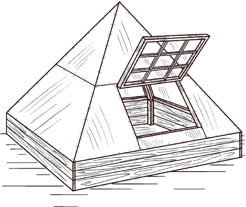 Рис. 79. Теплица-пирамида.