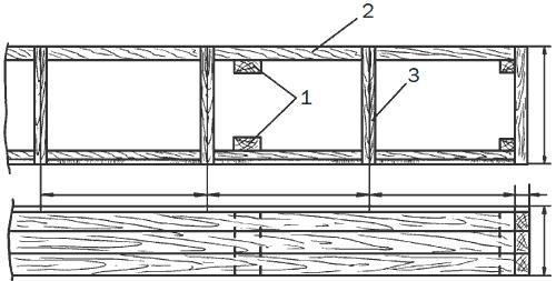 Рис. 101. Наземный парник: 1 – столбики; 2 – доска обрезная; 3 – парниковая рама.