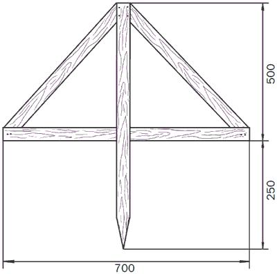 Рис. 106. Деревянный треугольник.