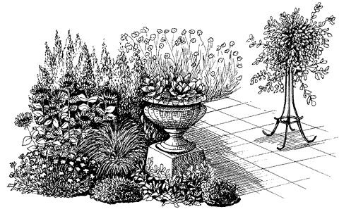 Рис. 17. Цветочные вазы на открытой террасе
