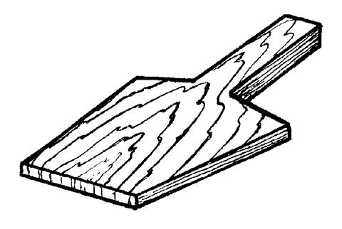 Рис. 26. Деревянная лопатка с ручкой