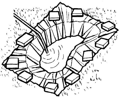 Рис. 64. Наполнение пруда водой