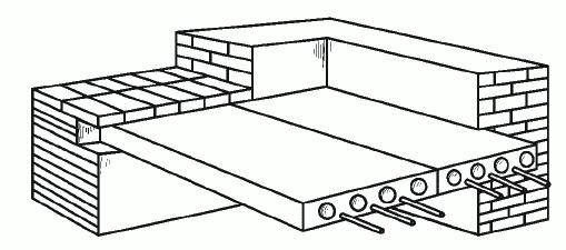 Рис. 42. Плитная конструкция пола