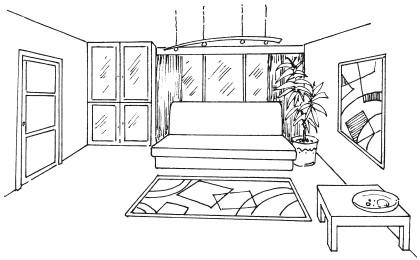 Рис.4. Образец интерьера в стиле минимализм