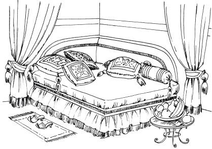 Рис.5. Образец интерьера в восточном стиле