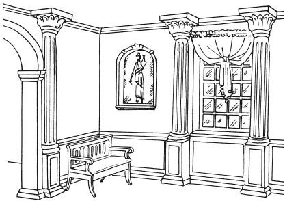 Рис.7. Образец античного интерьера