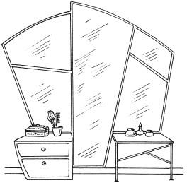 Рис.14. Зеркало в интерьере