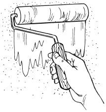 Рис.27. Нанесение грунтовки с помощью валика